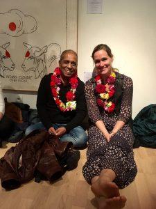 Manju Pattabhi Jois et Vanessa Brouillet