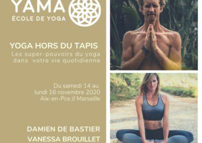Yoga hors du tapis