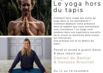 Le yoga hors du tapis
